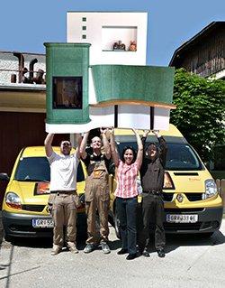 Bei Firma Josef Zistler in Oberösterreich wird der Kachelofen hochgehalten